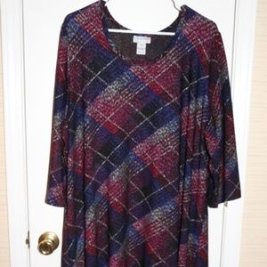 SZ 2X CATHERINES TARTAN LONG TUNIC TOP